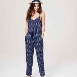 Loft Beach Wave Slouchy Jumpsuit NWT Large